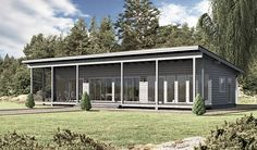 Vapaa-ajan asunto WM 90 Shed Building Plans, Wooden House, Prefab, Log Homes, Modern Architecture, House Plans, Floor Plans, Cottage, Layout