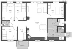 Pohjamalli A Future House, Layouts, House Plans, House Ideas, Floor Plans, How To Plan, Building, Home, Buildings