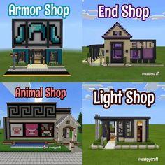 Minecraft Shops, Easy Minecraft Houses, Minecraft Room, Minecraft Plans, Minecraft House Designs, Minecraft Survival, Amazing Minecraft, Minecraft Tutorial, Minecraft Blueprints