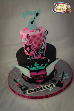 https://flic.kr/p/toWq8M | Girly Rock and Roll cake