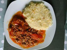 boeuf haché, chorizo, ketchup, tomate, piment, sel, poivre