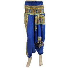 "New Dark Blue Womens Bohemian Capri Baggy Yoga Hippy Genie Aladdin Harem Pants 38"" (Apparel)  http://www.picter.org/?p=B006VC59FC"