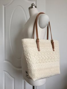 Handmade Shabby Chic Cotton Wedding Bag Lace Bag Lace Tote