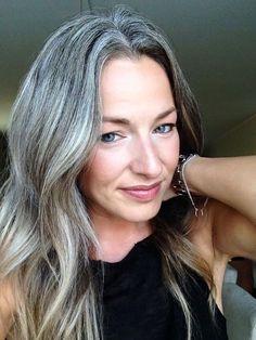 Gorgeous in grey. #hairdare