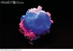 Fluorite with quartz. (Fluorescent minerals - blue fluorite with red quartz. Fluorite, also known as fluorspar or fluor, is a mineral of many different colors. Quartz is an extremely hard mineral composed of silica. Green And Purple, Blue, Royalty Free Photos, Different Colors, Minerals, Quartz, Stock Photos, Red, Gem Stones
