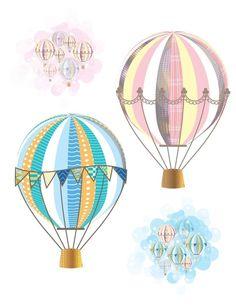 Ilustração de balões para você se inspirar e criar! (crédito da foto: woofanddine)