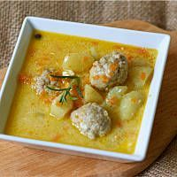 Cheeseburger Chowder, Thai Red Curry, Food And Drink, Chicken, Meat, Cooking, Ethnic Recipes, Kitchen, Mascarpone