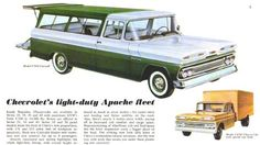 1960 Chevrolet Suburban Truck Ad- <3 The Green & White!!