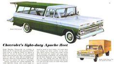 1960 Chevrolet Suburban Truck Ad- <3 The Green & White!!