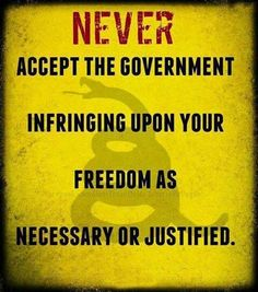 NEVER accept the government