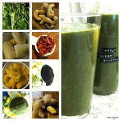 Immer wieder toll: Reginas Baukastenbilder. Hier ist die Anleitung für den grünen Smoothie am Morgen. http://mucveg.blogspot.de/2013/03/vegan-wednesday-31.html