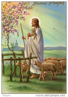 Postcards > Topics > Holidays & Celebrations > Easter - Delcampe.net Jesus Is Risen, Jesus Is Lord, Jesus Loves, Lord Is My Shepherd, The Good Shepherd, Angel Pictures, Jesus Pictures, Powerful Bible Verses, Jesus Artwork