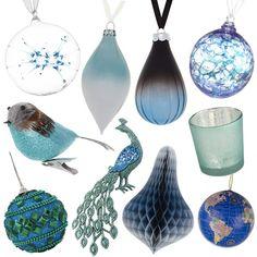 Blue #Christmas Decorations