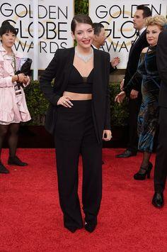 La moda en los 2015 Golden Globes | Bloc de Moda: Noticias de moda, fashion y belleza Primavera Verano 2015 | Lorde #PowerSuit