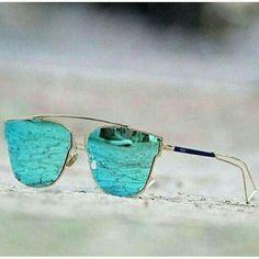 Destiny Fashion Silver And Blue Metal Sunglasses