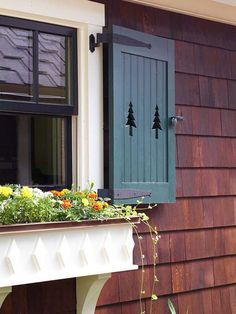 Easily boost curb appeal by adding window boxes with colorful flowers. More ways to add curb appeal: http://www.bhg.com/home-improvement/exteriors/curb-appeal/ways-to-add-curb-appeal/?socsrc=bhgpin070113windowbox=8