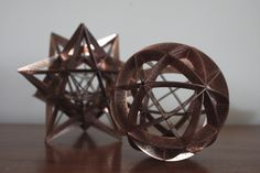 Spherical cube and stellated dodecahedron. Sacred Geoms. www.carnemolla.com.au Solid Geometry, Sacred Geometry, Platonic Solid, Geometric Jewelry, Weird World, Creative Inspiration, American Art, Decorative Bowls, Sculptures