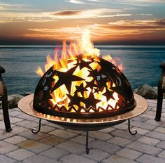 copper fire pit...