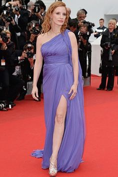 Jessica Chastain Celebrity hairstyles from Cannes Festival