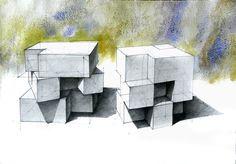 Cube transformation sketch