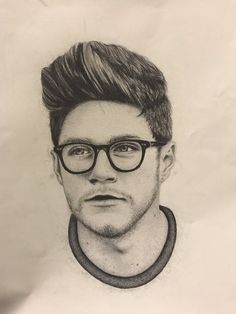 One Direction Fan Art, One Direction Drawings, One Direction Quotes, Niall Horan, Zayn, Pencil Portrait, Portrait Art, Harry Styles Drawing, Celebrity Drawings