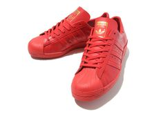 Red Adidas Superstars my all time favs