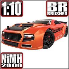 thunder drift on road belt drive car metallic orange