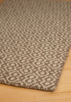 #HookandLoom Newcastle Natural Wool Loom-Hooked Rug