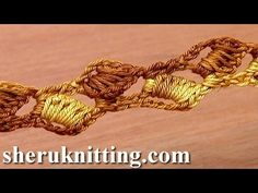 How to Crochet Lace Cord of Long Stitches Tutorial 2