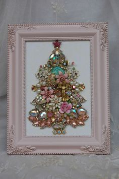 Love this idea for any shape, not just a tree. I always stare at sparkly brooches and wish I had a reason to buy them!