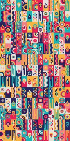 Graphic Design - Pattern Design - Russfussuk 'LiquidSunshine' Pattern Pattern Design : – Picture : – Description Russfussuk 'LiquidSunshine' Pattern -Read More – Geometric Patterns, Abstract Pattern, Pattern Art, Textures Patterns, Geometric Shapes, Graphic Design Pattern, Graphic Patterns, Graphic Design Illustration, Print Patterns