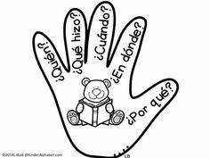 Bilingual Kinder Alphabet: The Five W's Bilingual Kindergarten, Bilingual Classroom, Bilingual Education, Elementary Spanish, Teaching Spanish, Teaching Resources, Spanish Teacher, Spanish Anchor Charts, Dual Language Classroom
