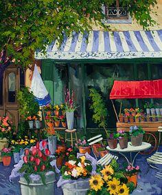 Watercolor Architecture, Watercolor Landscape, Watercolor Paintings, Watercolor Flowers, Let's Make Art, Impressionism Art, Naive Art, Flower Market, Canadian Artists