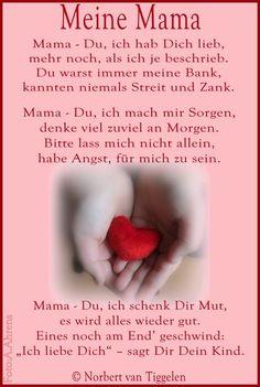 Gedichte mama ich liebe dich