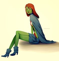 Young Justice: Miss Martian by Adenie.deviantart.com on @deviantART