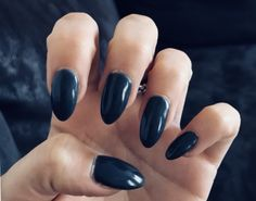 #nails #grey #long #lovely
