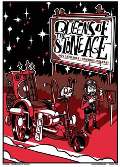 Jacknife Design — Queens of the Stone Age 2013 - Belfast #qotsa poster