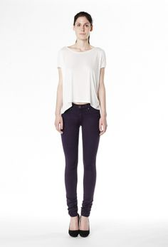 Second Clothing co.: Mid Rise Skinny - Grape