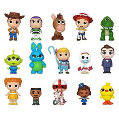 Figura Misteriosa Funko Mystery Mini Toy Story 4!       Woody, Buzz, Alien, Forky, Ducky, Bunny, Bo Peep y todos tus personajes favoritos  te esperan para completar tu colección! Cumple Toy Story, Festa Toy Story, Toy Story Party, Toy Story Birthday, Toy Story Figures, Vinyl Figures, Bos Layer Toy Story, Heros Film, Dibujos Toy Story