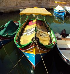 One of Bugibba's colorful boats. Photo by Andrew3000
