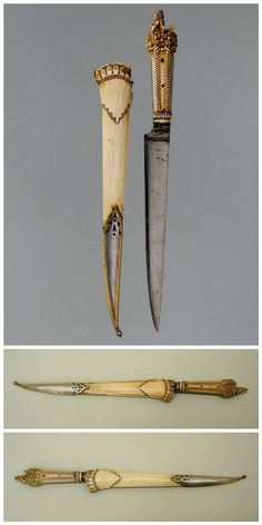 Dagger with Sheath. Dated: circa 1650–1700. Culture: Nepalese. Medium: ivory (elephant), steel, silver.