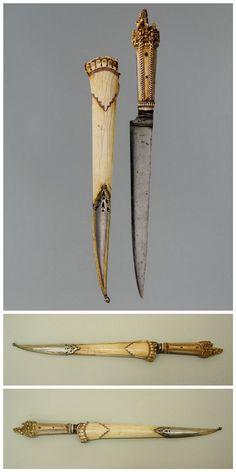 Dagger with Sheath. Dated: circa 1650–1700. Culture: Nepalese. Medium: ivory (elephant), steel, silver.