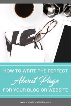 """How To Write Your Blog """"About"""" Page Bio. Your """"About"""" page gives you the chance to make an awesome first impression with your readers! So how do you go about writing a great """"About"""" page and what content should you include? Let's discuss…"""
