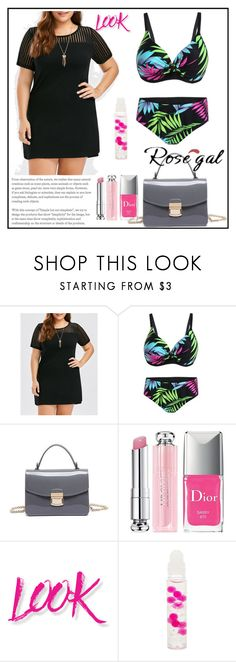 """""""Rosegal # 26"""" by nejrasehicc ❤ liked on Polyvore featuring Christian Dior, NYX and Forever 21"""