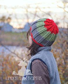 THIS ITEM IS MADE TO ORDER! * Trendy Colorful Striped Beanie will keep you warm in style! * Great for sledding, hiking, or jumping in piles of leaves! * Soft, acrylic yarn. Handmade in the USA!  * Thick and warm Colorful Toque is perfect for Fall, Winter, and Spring! * This Crochet