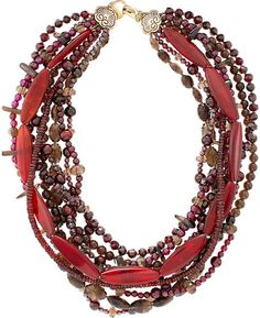 Stephen Dweck Necklace | Stephen Dweck Multistrand Necklace in Brown (null) - Lyst