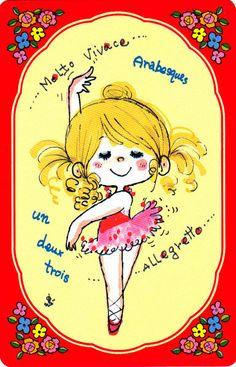 水森亜土 Ballet Illustration, Cute Animal Illustration, Kawaii Illustration, Character Illustration, Graphic Illustration, Vintage Ballet, Ballet Girls, Colorful Drawings, Cute Characters