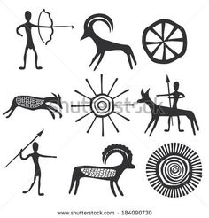 Vector petroglyphs Kunst Der Aborigines, Cave Drawings, Handpoke Tattoo, Banksy Graffiti, Africa Art, Desenho Tattoo, Indigenous Art, Aboriginal Art, Native Art