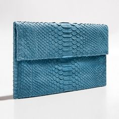 Denim blue python clutch by Verinosa More colors www.verinosa.ee