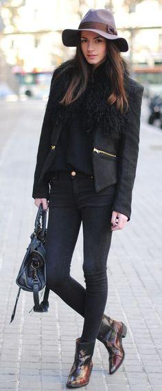 #love Black V Neck Long Sleeve Zipper Embellished Coat - Sheinside.com